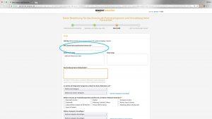 kostenlosen Amazon Affiliate Account erstellen daten eingeben
