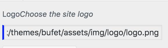 WP Theme Bufet überschreibt Logo