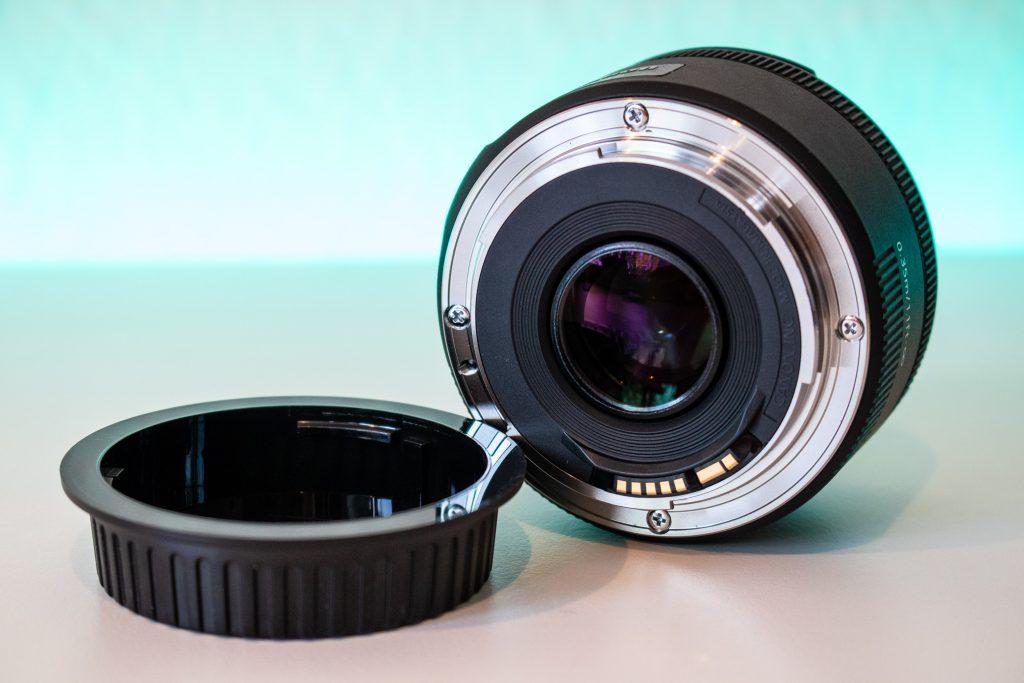 Canon EF 50mm f/1.8 rückseite