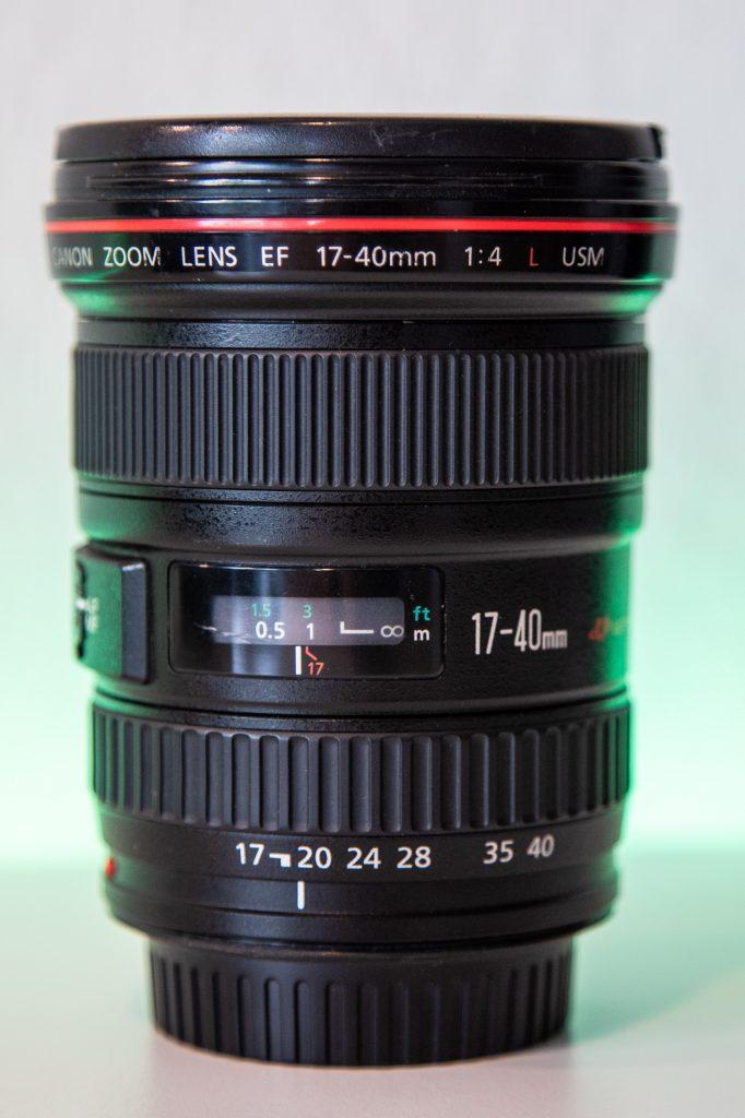 Canon EF 17-40mm f4 usm vertikale ansicht