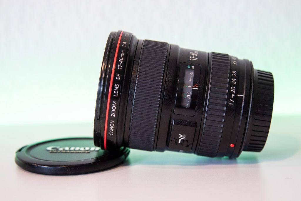 Canon EF 17-40mm f4 usm seitliche ansicht