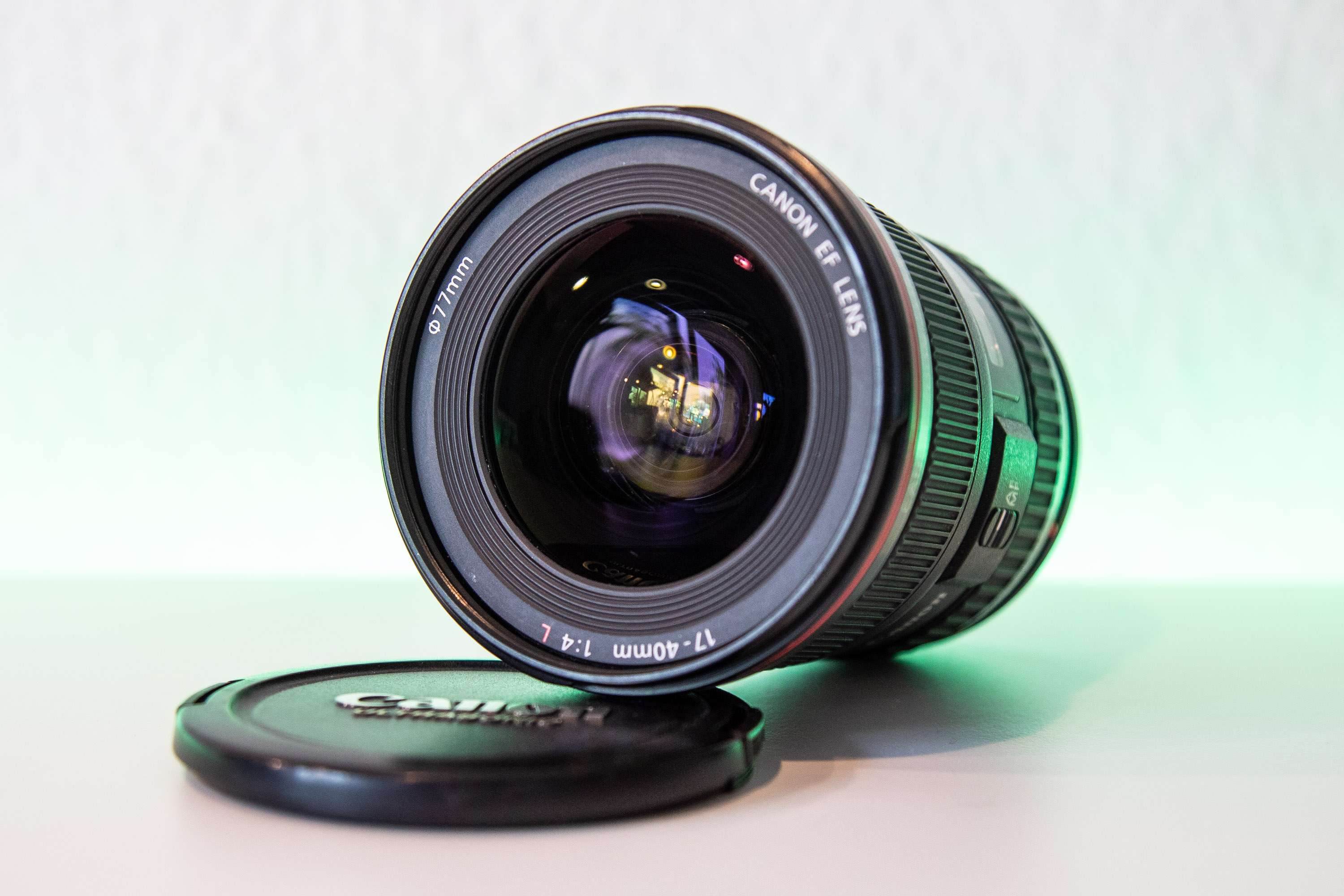 Canon EF 17-40mm f4 usm Frontansicht